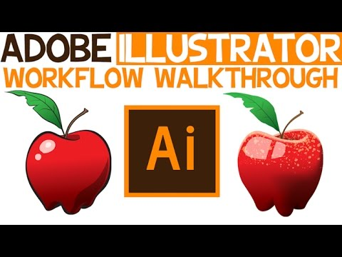 A walkthrough of my Illustrator Workflow