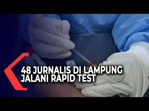 Bakal Calon Wakil Bupati Positif Covid-19, 48 Jurnalis di Lampung Jalani Rapid Test