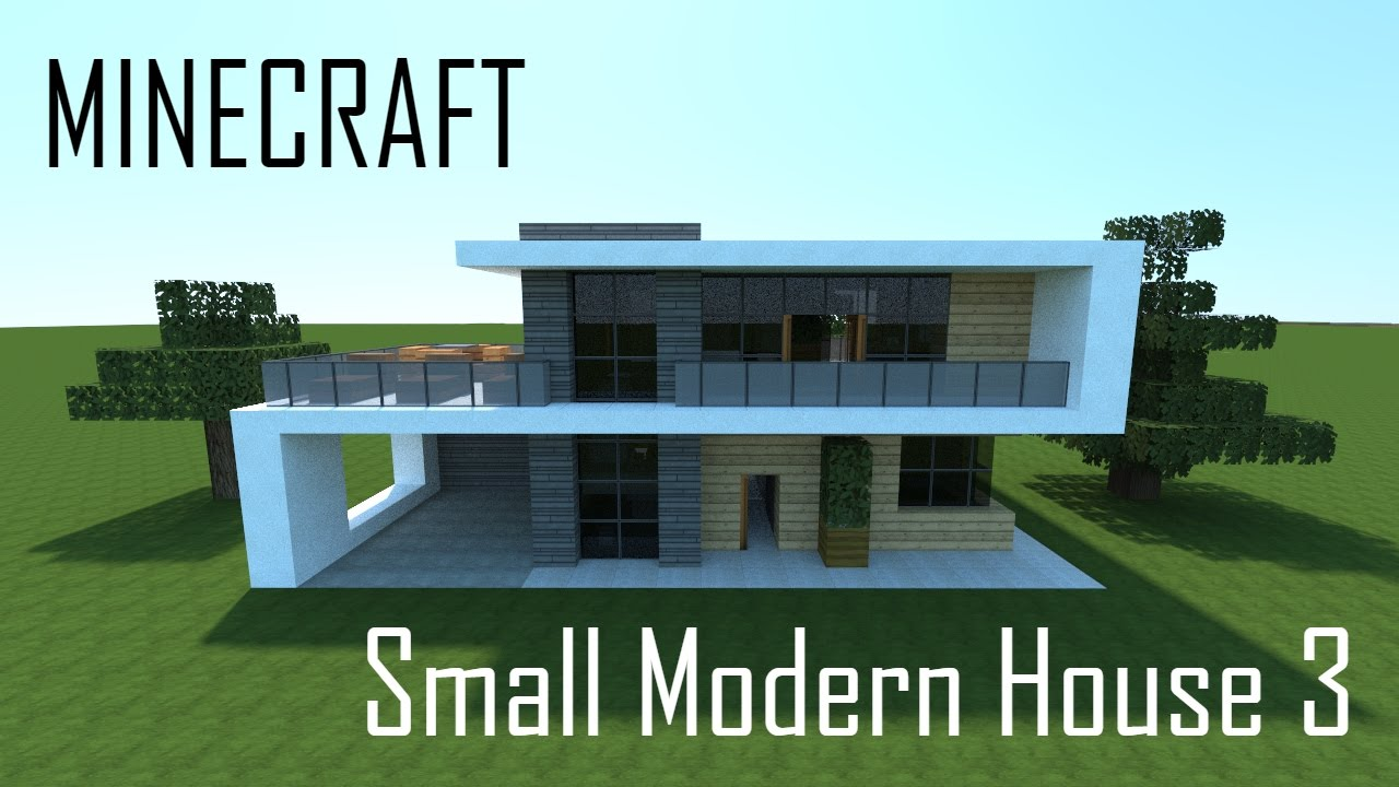 Minecraft Small Modern House 3 full interior Download YouTube