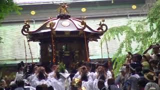 H30.7.16 塩釜神社 港祭り 202段からの2基の神輿と市内巡行