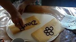 DIY Super easy Schokoladen Deko, #TORTENDEKO selbst gemacht, -Kommunion,HOCHZEIT;Geburtstag,