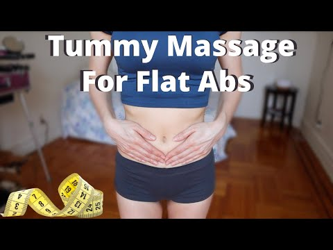 Self STOMACH MASSAGE for weight loss
