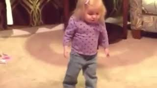 Cute little baby girl dancing 1 2 cha cha 😃