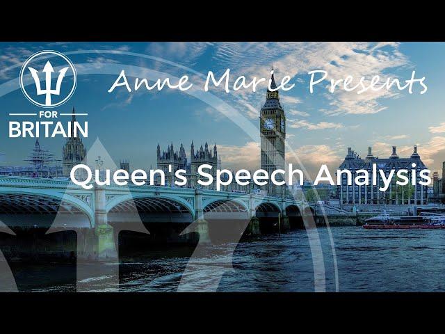 Anne Marie Presents: Queen's Speech Analysis