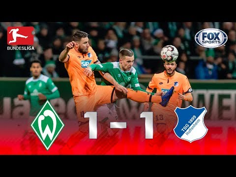 Veja os melhores momentos de Werder Bremen 1 x 1 Hoffenheim na Bundesliga
