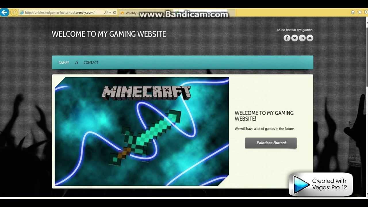 minecraft unblocked weebly