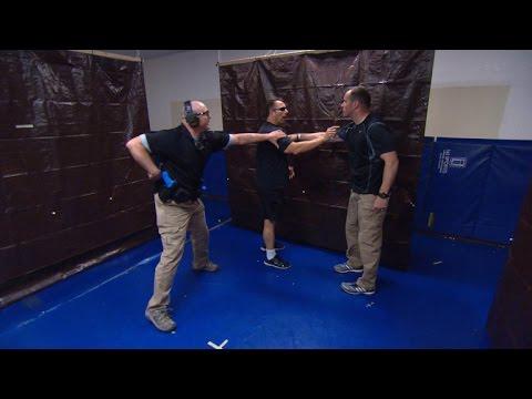 Las Vegas police hold de-escalation training drills