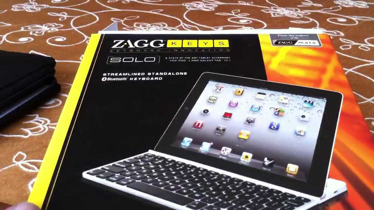 Zagg Keys SOLO For iPad 2 /& Galaxy Tab 10.1