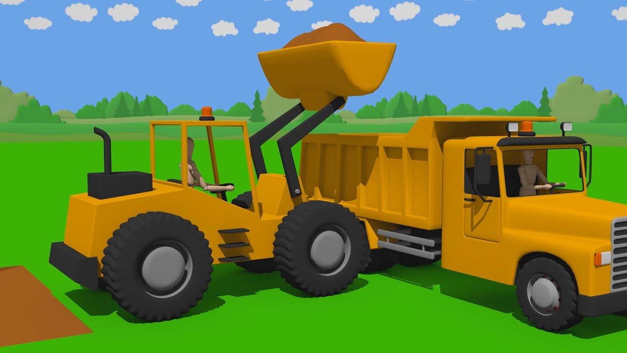 Front loader and truck with tipper / water park - Wooden Toys