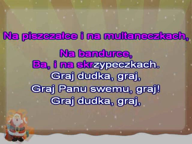 Karaoke Kolęda - Jam jest dudka - z linią melodyczną ( www.letsing.pl )