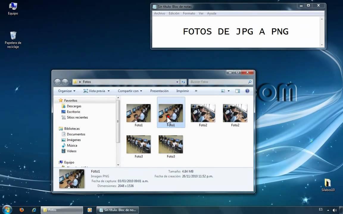 Tutorial - convertir archivos Jpg a Png. - YouTube