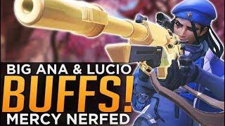 Video Overwatch: HUGE Ana & Lucio BUFFS! - Mercy NERFED! download MP3, 3GP, MP4, WEBM, AVI, FLV Juli 2018