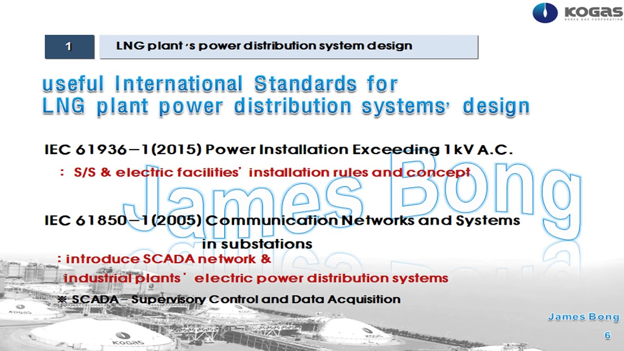 electric power distribution systems in LNG plant
