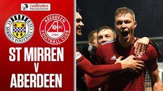 St Mirren 1-2 Aberdeen   Dons back up to fourth   Ladbrokes Premiership