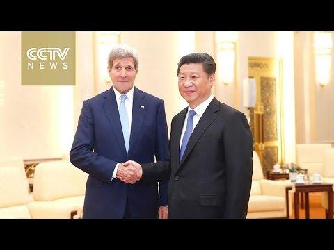 President Xi meets John Kerry in Beijing
