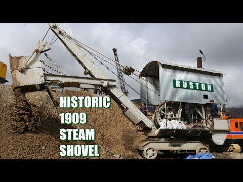 1909 historic Ruston - Proctor steam shovel working.