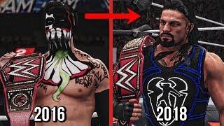 All Universal Champions 2016 To 2018! ( WWE 2K18 )