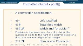 Formatted Output Printf PT1 - 03 - Chapter 08