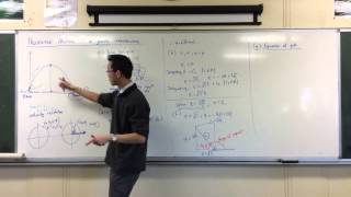 Projectile Motion: Simple Worked Example (4 of 4: Equation of Path)