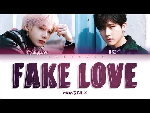 MONSTA X (I.M & HYUNGWON) - FAKE LOVE (COVER) LYRICS (Color Coded Eng)