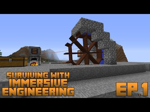 Surviving With Immersive Engineering :: Ep.1 - Coke Oven and Water Wheel Power