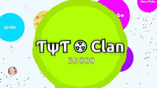 ??? ? Clan Gameplay 35,000 Mass // Agario TYT Clan