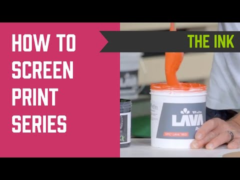 How to Screen Print Series - Screen Printing Ink