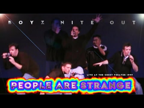 """Boyz Nite Out - """"People Are Strange"""" - Doors LIVE Acapella At The Crest Theater"""