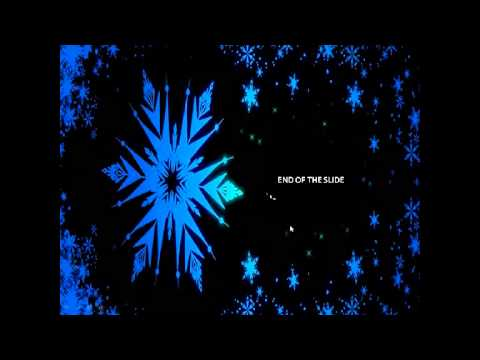 free animated power point theme frozen with instrumental music