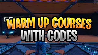 Cursos de calentamiento Fortnite Creative WITH CODES *SWEATY* Build, Edit & Aim Training