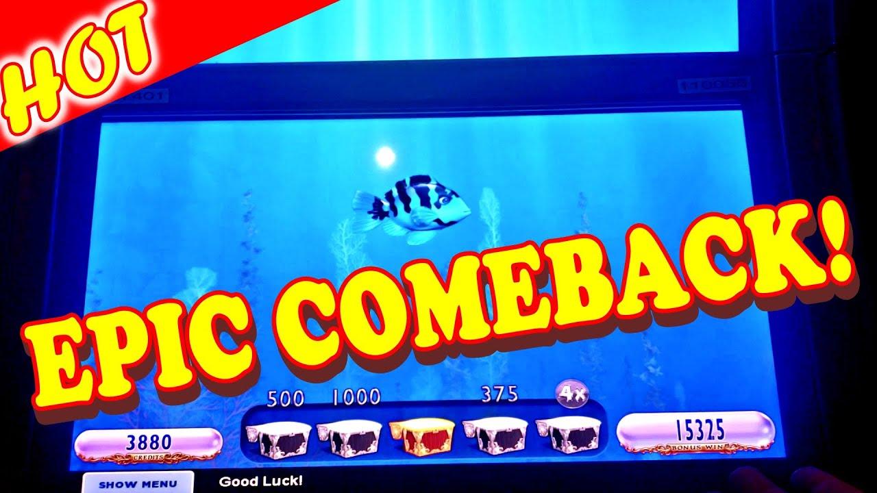 THE BLUE FISH SECRET WORKED!!!! * OFFICIAL EPIC COMEBACK!! - Vegas Casino Slot Machine Bonus Big Win