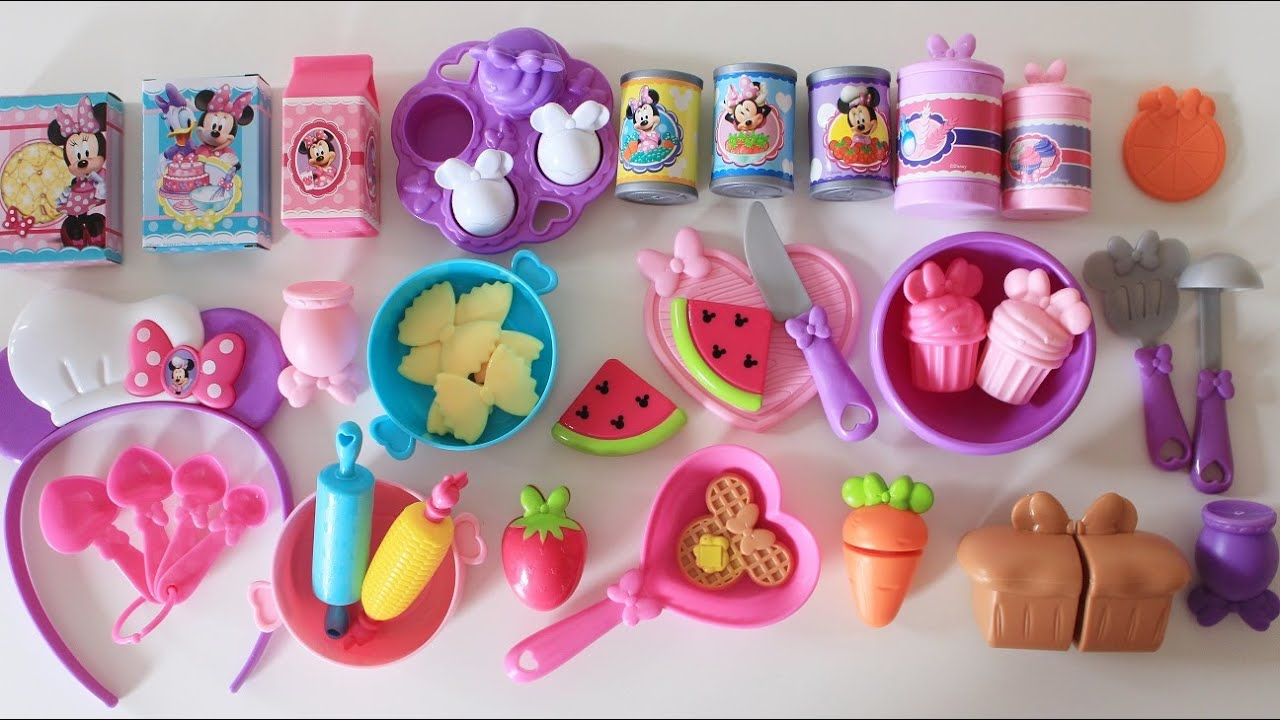 Kitchen Accessory Minnie Mouse Bowtastic Kitchen Accessory Set Velcro Cutting Fruit