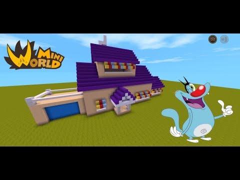 Mini World Block Art – Xây Nhà Của OGGY Trong Mini World.
