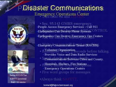 Emergency Communications for CERT, REACT, ARES/RACES, Red Cross, Disaster Services