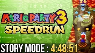 Mario Party 3 Story Mode (Easy) Speedrun in 4:48:51