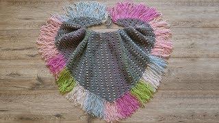 Шарф – бактус спицами | Baktus scarf knitted