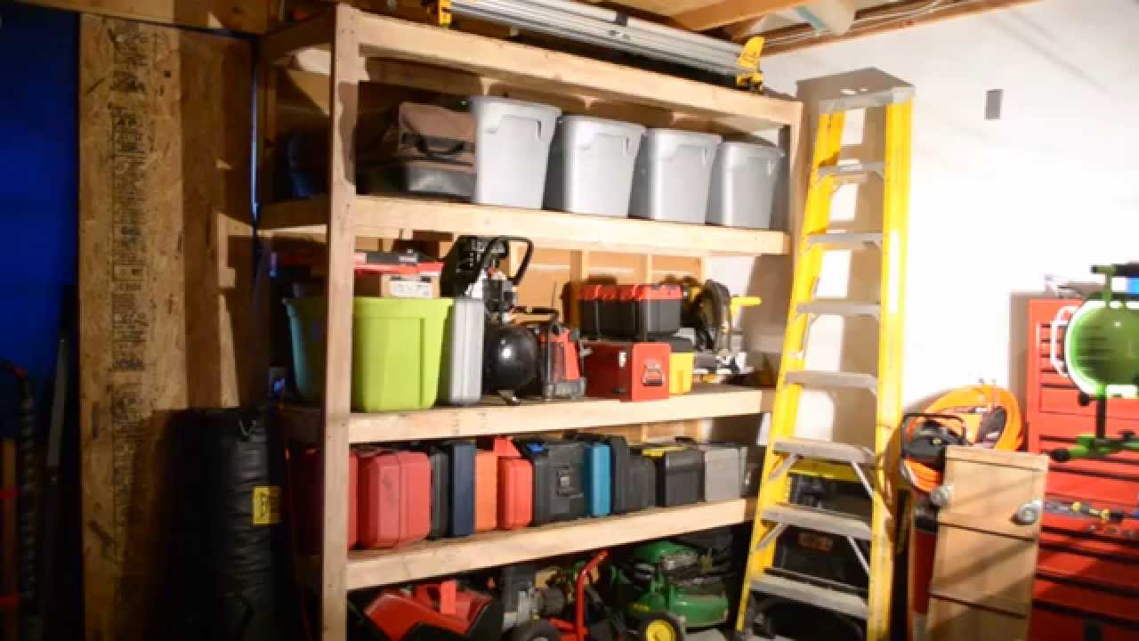 Garage Shelves Extremely Cheap And Strong Youtube