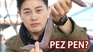 Eating PENISU FISH in South Korea | Korean Street Food
