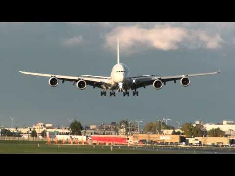 Air France A380 landing on 24R at YUL