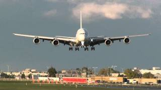 Air France A380 landing on 24R at YUL