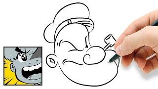 How to draw Popeye