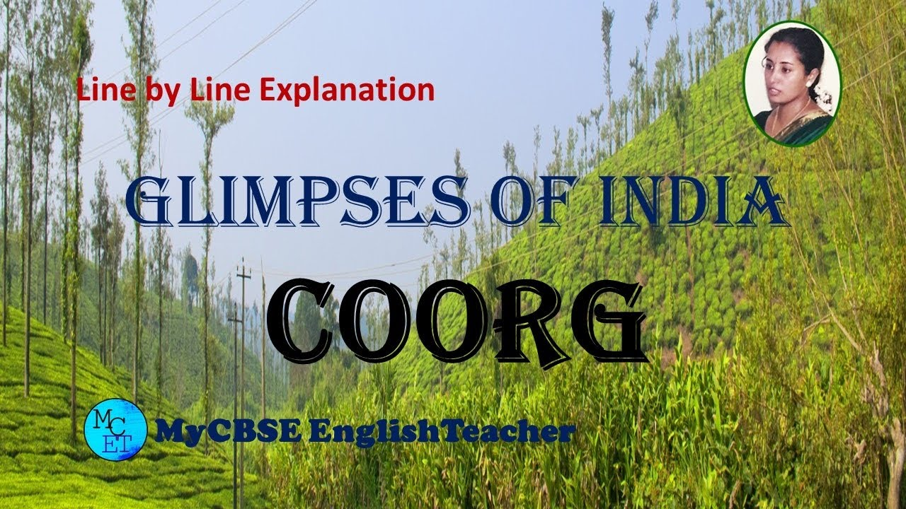 Coorg class 10 line by line explanation
