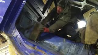 Сороконожка часть 86. Мерседес Актрос 4144к, кабина ремонт полов, ремонт лонжерона.