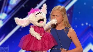 vuclip America's Got Talent 2017 Darci Lynne 12 Year Old Singing Ventriloquist Full Audition S12E01