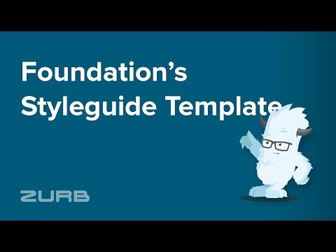 📝  Styleguide (Style Sherpa)   Foundation 6 By ZURB