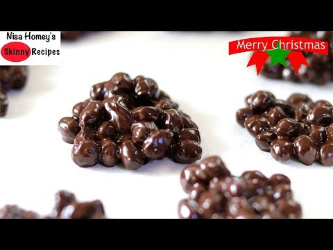 Easy Chocolate Peanuts Clusters Recipe - 2 Ingredients Recipes - Skinny Recipes