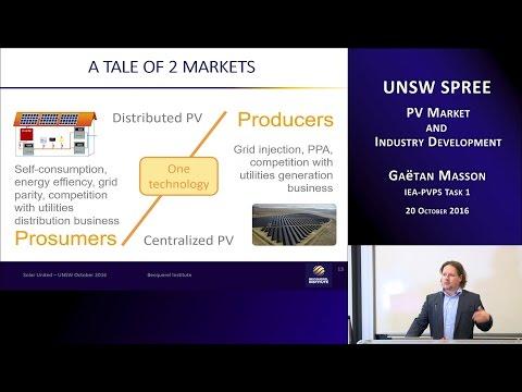 UNSW SPREE 201610-20 Gaetan Masson - PV market and industry development