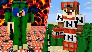 TNT vs CACTO (EXPLODIU TUDO??) - MINECRAFT (NOOB vs PRO)