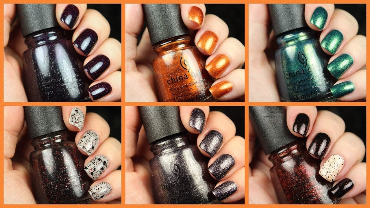 China Glaze Halloween 2020 Swatches China Glaze To Catch a Colour | Halloween 2019 | Live Swatch +