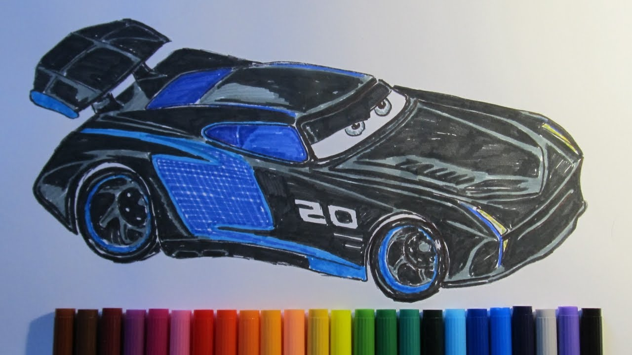 how to draw cars jackson storm